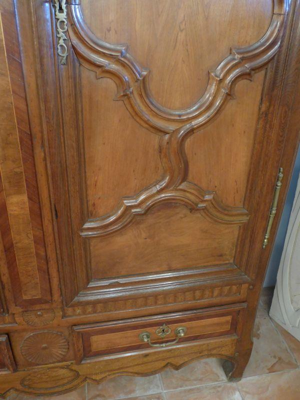 Armoire lorraine vall e de la seille noyer xixe antiquit opio - Armoire lorraine ancienne ...