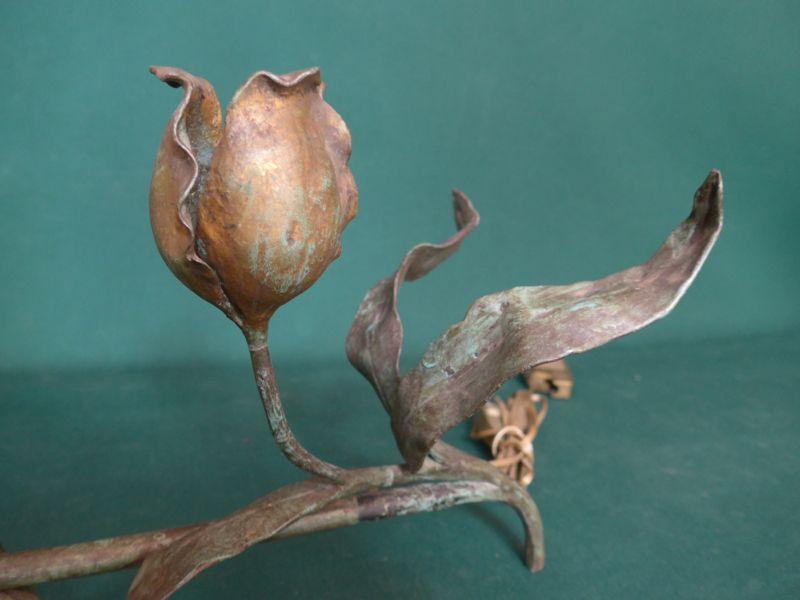 Lampe Fer Forge Art Nouveau De Carion Antiquite Opio