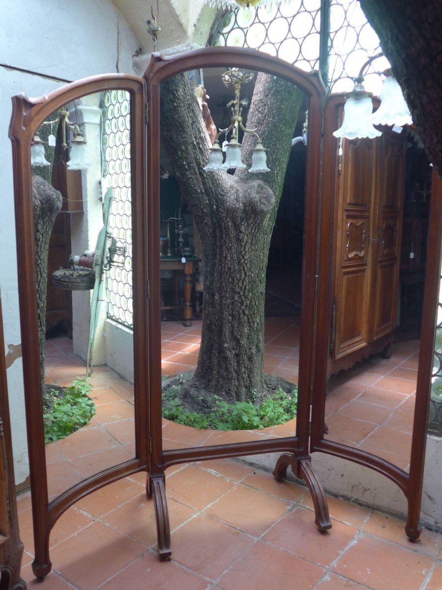 Miroirs antiquit s brocante for Grand miroir triptyque