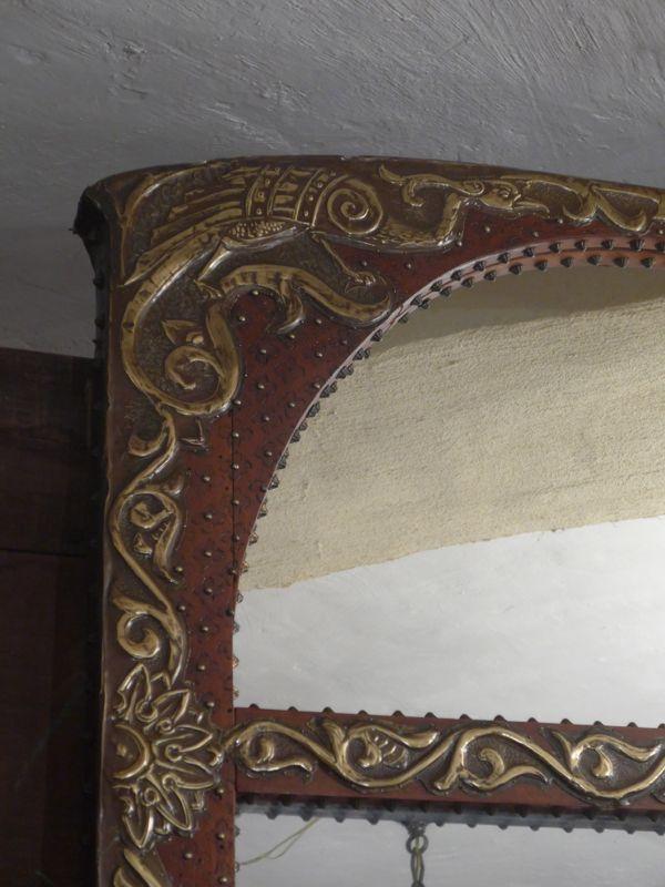 grand miroir art nouveau vendu antiquit opio. Black Bedroom Furniture Sets. Home Design Ideas
