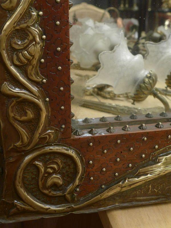 Grand miroir art nouveau vendu antiquit opio for Miroir art nouveau