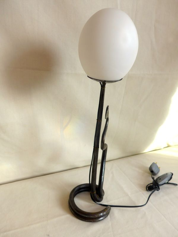 lampe en fer forg des ann es 20 antiquit opio. Black Bedroom Furniture Sets. Home Design Ideas