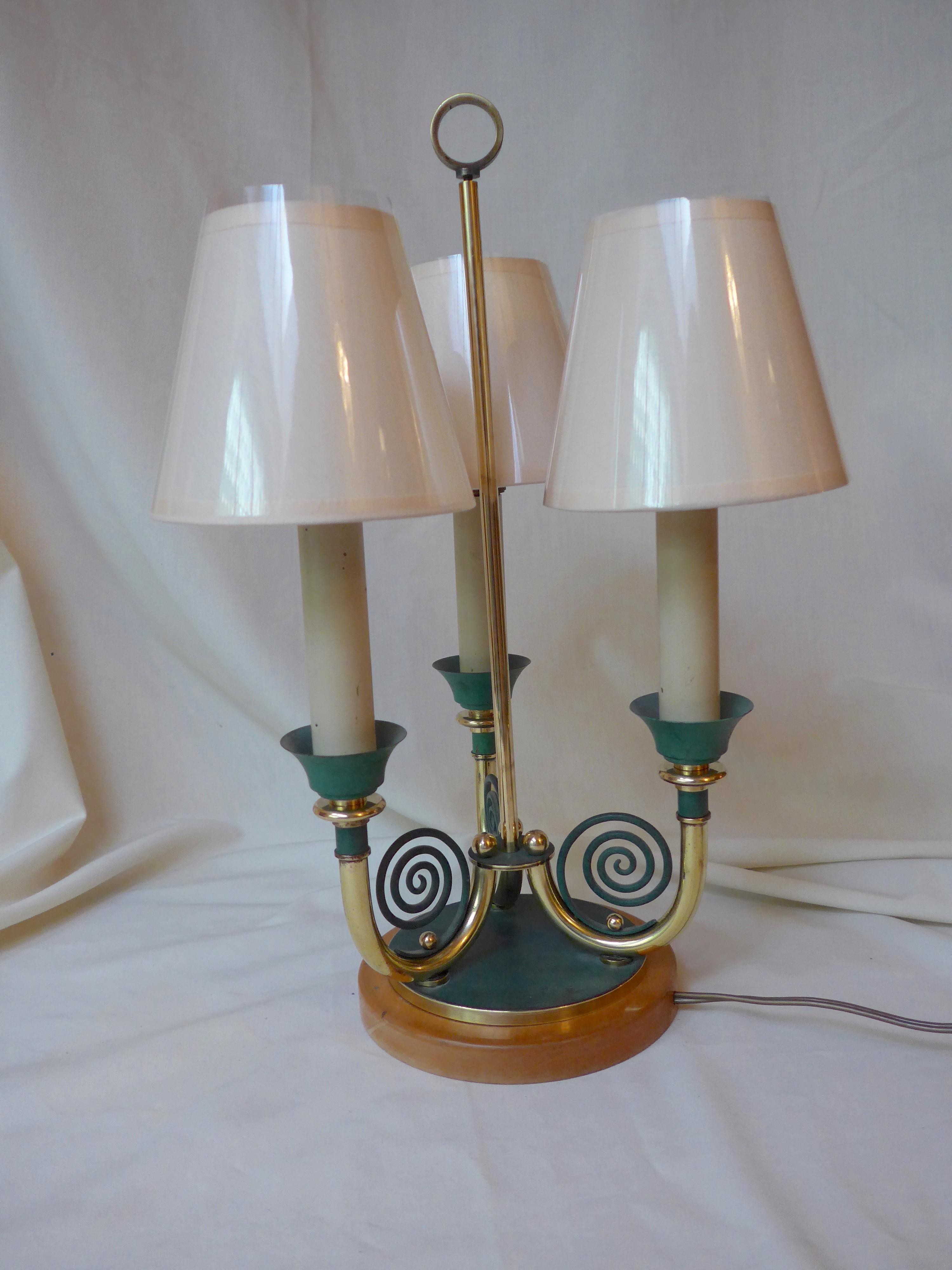 lampe bouillotte ann es 40 50 antiquit opio. Black Bedroom Furniture Sets. Home Design Ideas